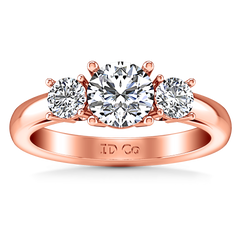 Three Stone Engagement Ring Alexandra 14K Rose Gold