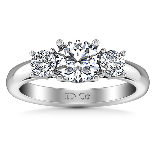 Three Stone Engagement Ring Alexandra 14K White Gold