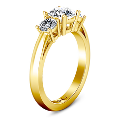 Three Stone Engagement Ring Alexandra 14K Yellow Gold