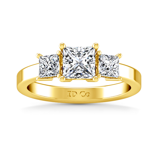 Three Stone Engagement Ring Alana 14K Yellow Gold