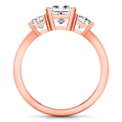 Three Stone Engagement Ring Alana 14K Rose Gold