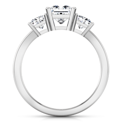 Three Stone Engagement Ring Alana 14K White Gold