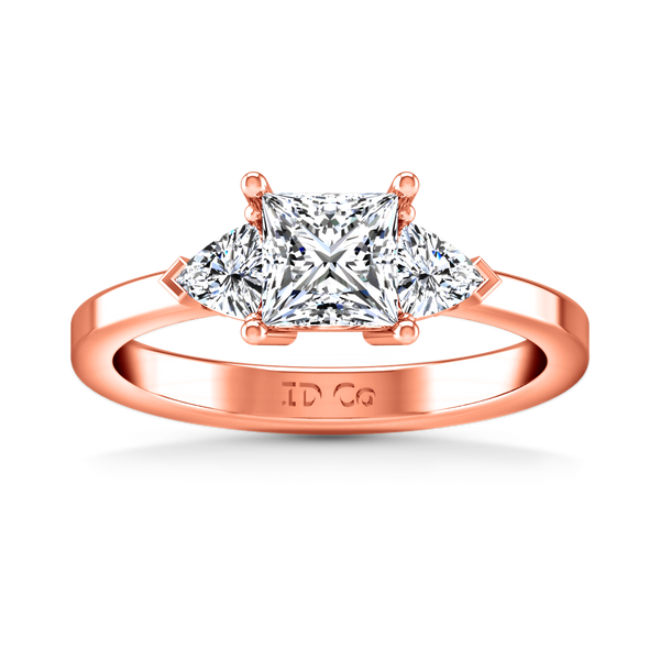 Three Stone Engagement Ring Simone 14K Rose Gold
