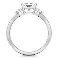Three Stone Engagement Ring Simone 14K White Gold