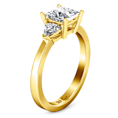 Three Stone Engagement Ring Simone 14K Yellow Gold