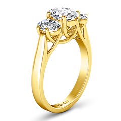 Three Stone Engagement Ring Arabella 14K Yellow Gold