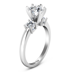 Three Stone Engagement Ring Talia 14K White Gold