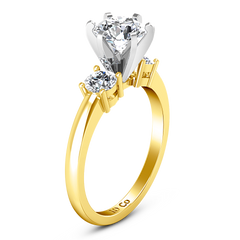 Three Stone Engagement Ring Talia 14K Yellow Gold