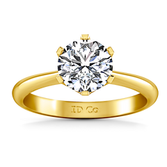 Solitaire Engagement Ring Tresa  14K Yellow Gold