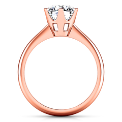 Solitaire Engagement Ring Tresa  14K Rose Gold