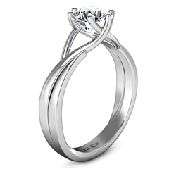 Solitaire Engagement Ring Wisteria 14K White Gold