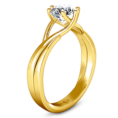 Solitaire Engagement Ring Wisteria 14K Yellow Gold