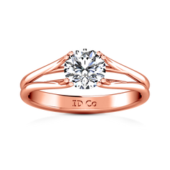 Solitaire Engagement Ring Adagio 14K Rose Gold