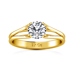 Solitaire Engagement Ring Adagio 14K Yellow Gold