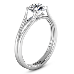 Solitaire Engagement Ring Adagio 14K White Gold