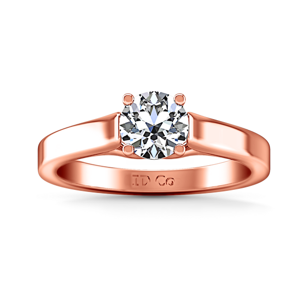 Solitaire Engagement Ring Lyric Modern Lattice 14K Rose Gold