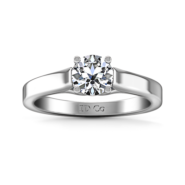 Solitaire Engagement Ring Lyric Modern Lattice 14K White Gold