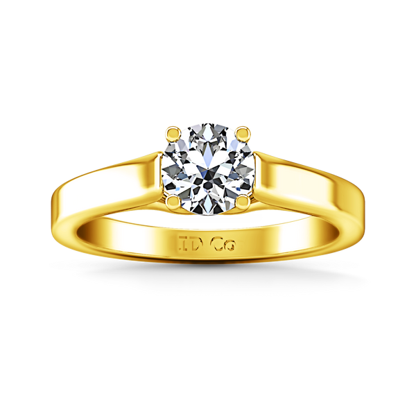 Solitaire Engagement Ring Lyric Modern Lattice 14K Yellow Gold