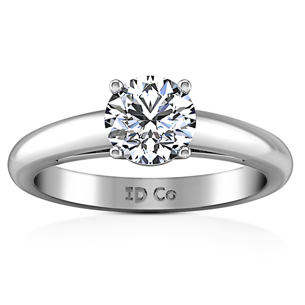 Solitaire Engagement Ring Avant 14K White Gold