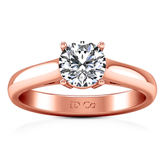 Solitaire Engagement Ring Chiara 14K Rose Gold