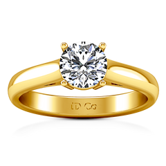 Solitaire Engagement Ring Chiara 14K Yellow Gold