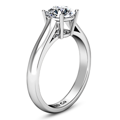 Solitaire Engagement Ring Chiara 14K White Gold