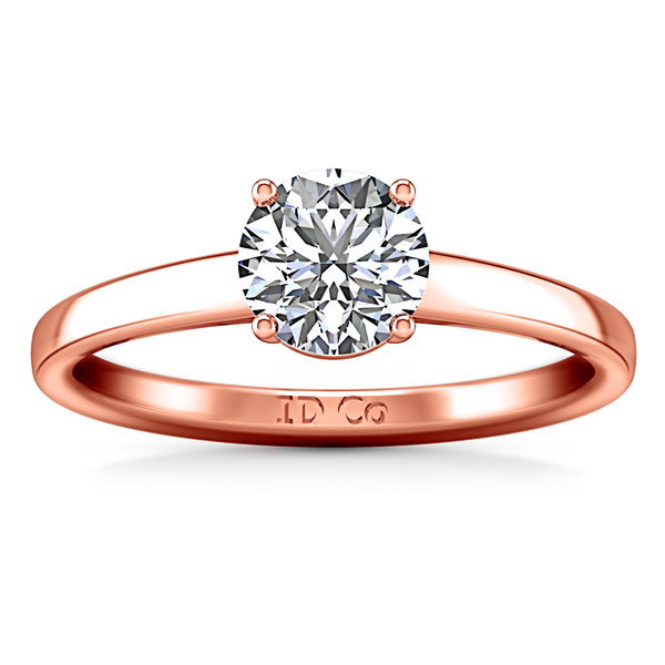 Solitaire Engagement Ring Nuovo 14K Rose Gold