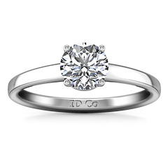 Solitaire Engagement Ring Nuovo 14K White Gold