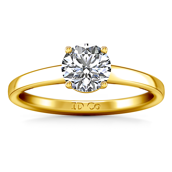 Solitaire Engagement Ring Nuovo 14K Yellow Gold