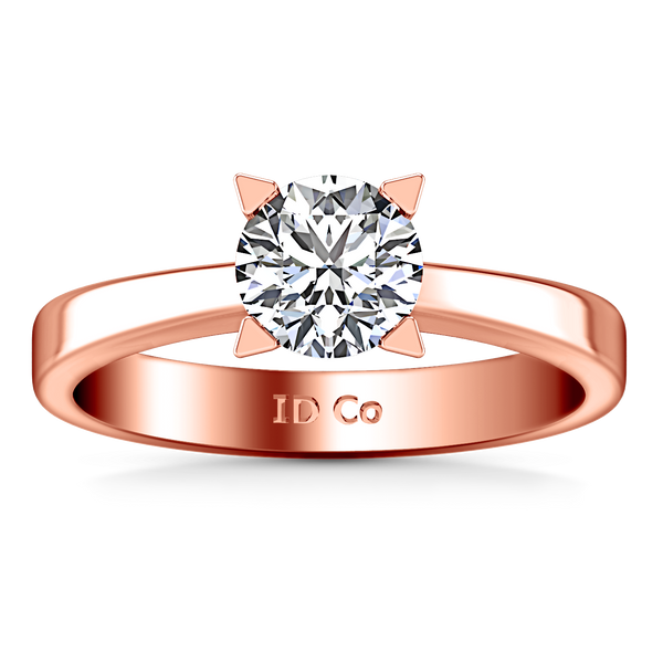 Solitaire Engagement Ring Icon 14K Rose Gold
