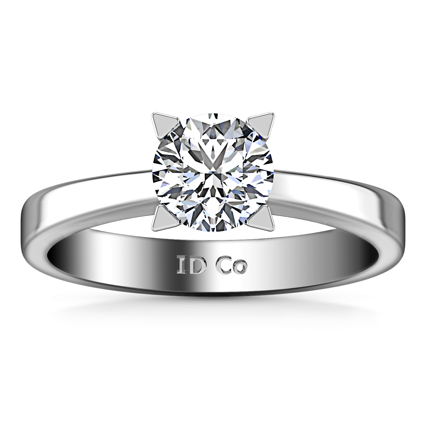 Solitaire Engagement Ring Icon 14k White Gold Imagine Diamonds