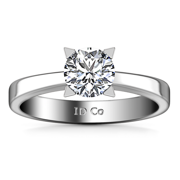 Solitaire Engagement Ring Icon 14K White Gold