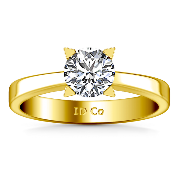 Solitaire Engagement Ring Icon 14K Yellow Gold