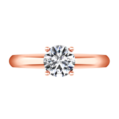 Solitaire Engagement Ring Carys 14K Rose Gold