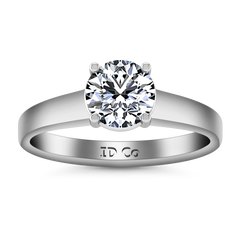 Solitaire Engagement Ring Valse  14K White Gold