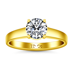 Solitaire Engagement Ring Valse  14K Yellow Gold