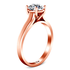 Solitaire Engagement Ring Valse  14K Rose Gold