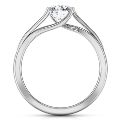 Solitaire Engagement Ring Laurel 14K White Gold