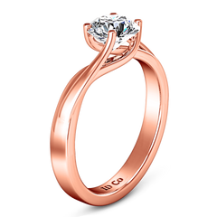 Solitaire Engagement Ring Laurel 14K Rose Gold