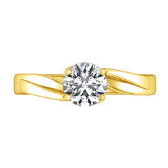 Solitaire Engagement Ring Laurel 14K Yellow Gold