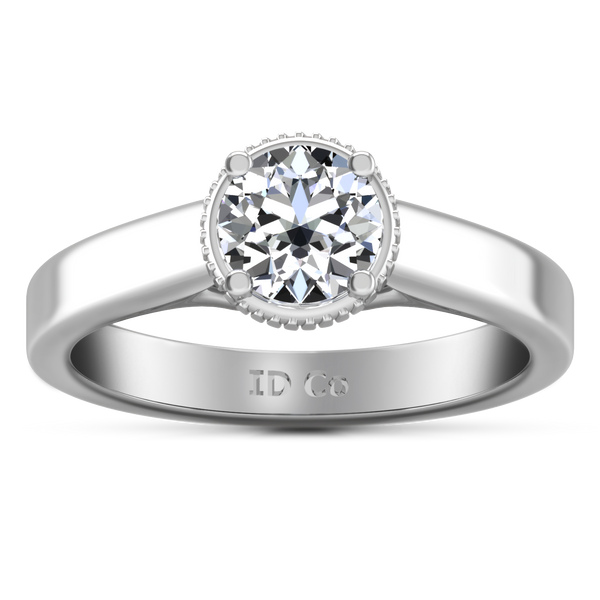 Solitaire Engagement Ring Carina  14K White Gold