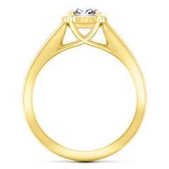 Solitaire Engagement Ring Carina  14K Yellow Gold