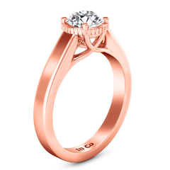 Solitaire Engagement Ring Carina  14K Rose Gold