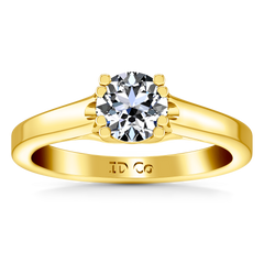 Solitaire Engagement Ring Royale Lattice 14K Yellow Gold