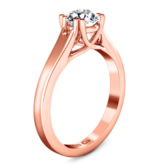 Solitaire Engagement Ring Royale Lattice 14K Rose Gold