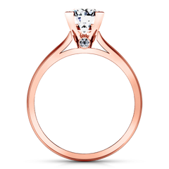 Solitaire Engagement Ring Luna 14K Rose Gold