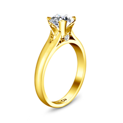 Solitaire Engagement Ring Luna 14K Yellow Gold