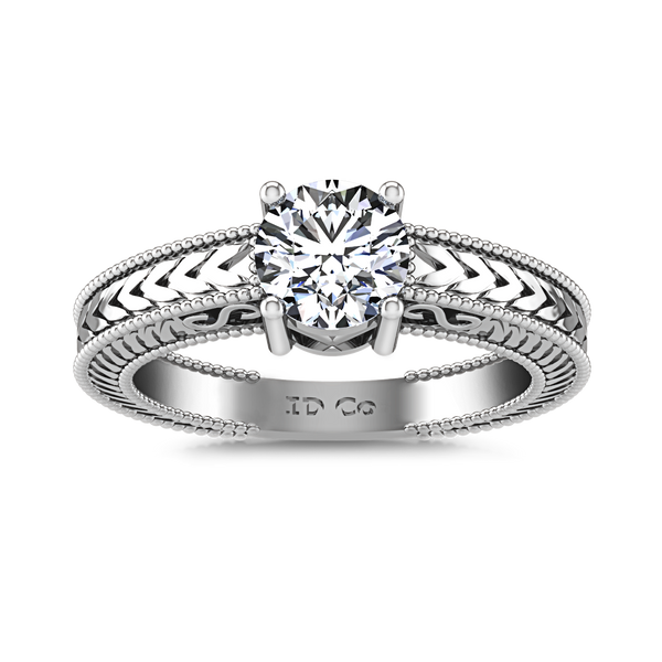 Solitaire Engagement Ring Kensington 14K White Gold