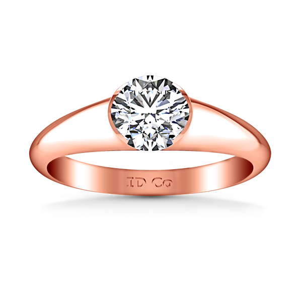 Solitaire Engagement Ring Ansley 14K Rose Gold