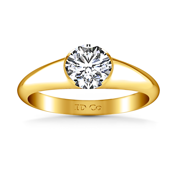 Solitaire Engagement Ring Ansley 14K Yellow Gold